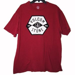 Volcom – Maroon Short Sleeve Graphic Design Tee